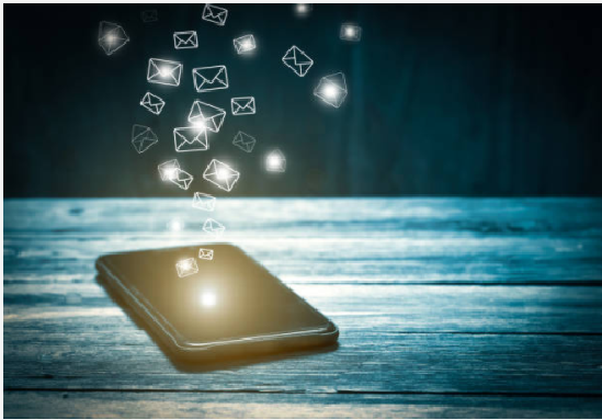 Emails marketing through mobile phone